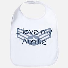 E4 USAF I love my auntie blue Bib