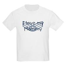 E4 USAF I love my mommy blue T-Shirt