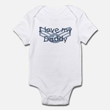 E4 USAF I love my daddy blue Infant Bodysuit