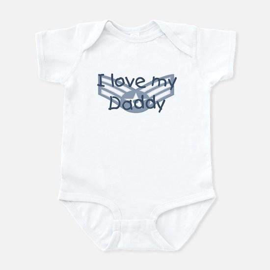E4 USAF I love my daddy blue Infant Bodysuit