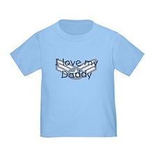 E4 USAF I love my daddy blue T