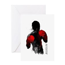 Boxeur Greeting Cards