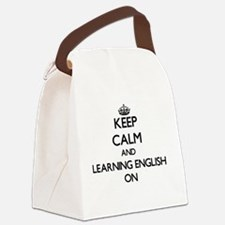 Keep Calm and Learning English ON Canvas Lunch Bag