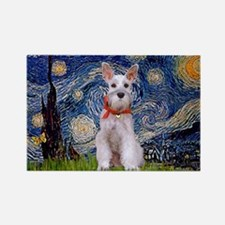 Starry Night Schnauzer Rectangle Magnet