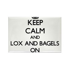 Keep Calm and Lox And Bagels ON Magnets