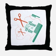 Time For Trim Throw Pillow