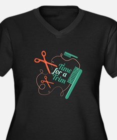 Time For Trim Plus Size T-Shirt