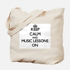 Keep Calm and Music Lessons ON Tote Bag