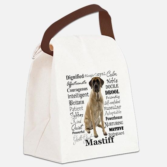 Mastiff Traits Canvas Lunch Bag