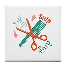 Snip Snip Tile Coaster