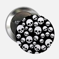 "Unique Skull 2.25"" Button"