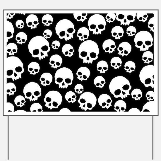 Funny Skull Yard Sign