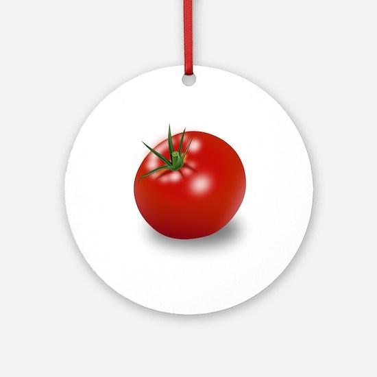 Red tomato Ornament (Round)