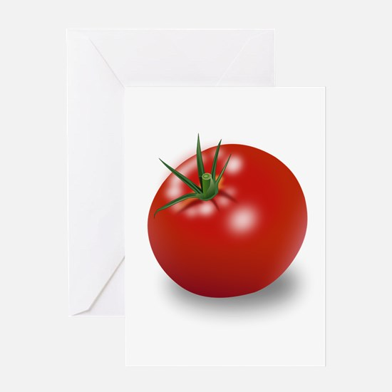 Red tomato Greeting Cards