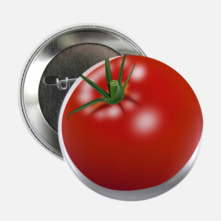 """Red tomato 2.25"""" Button (10 pack)"""