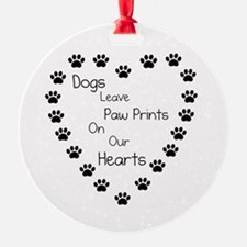Dogs Leave Paw Prints 10 x 10.png Ornament