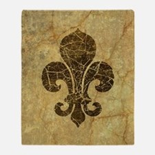 Unique Fleur de lis Throw Blanket