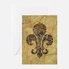 Cute Fleurdelis Greeting Card