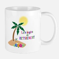 Life Begins at Retirement, Tropical Bea Mug