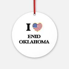 I love Enid Oklahoma Ornament (Round)