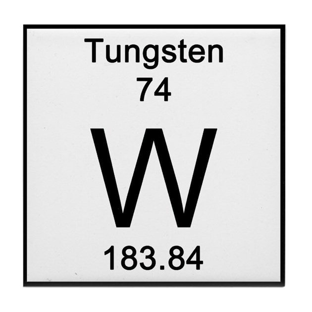 74 Tungsten Tile Coaster By Science Lady