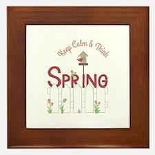 Keep Calm & Think Spring Framed Tile