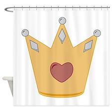 Heart Crown Shower Curtain