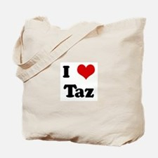 I Love Taz Tote Bag