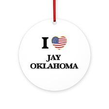 I love Jay Oklahoma Ornament (Round)