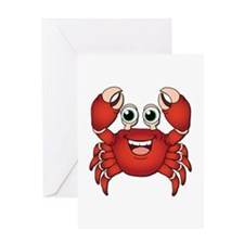 Happy Crab Greeting Cards