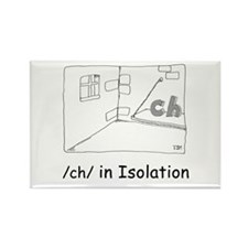/ch/ in Isolation Rectangle Magnet (10 pack)