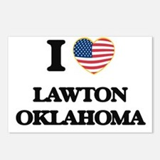 I love Lawton Oklahoma Postcards (Package of 8)