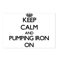Keep Calm and Pumping Iro Postcards (Package of 8)