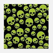 Cool Skulls Tile Coaster