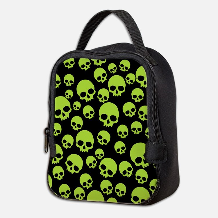 Cute Skulls Neoprene Lunch Bag