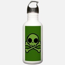 Funny Skull and crossbones Water Bottle