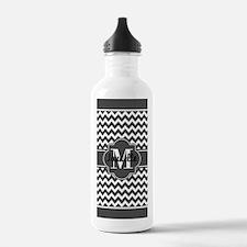 Gray Chevron Custom Mo Water Bottle