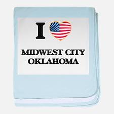 I love Midwest City Oklahoma baby blanket
