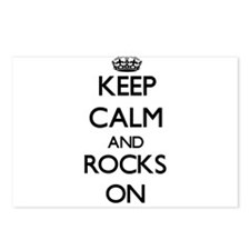 Keep Calm and Rocks ON Postcards (Package of 8)