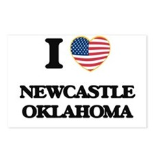 I love Newcastle Oklahoma Postcards (Package of 8)