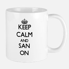 Keep Calm and San ON Mugs