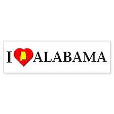 I love Alabama Bumper Bumper Sticker