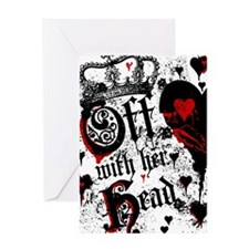 Cute Alice in wonderland off with her head Greeting Card