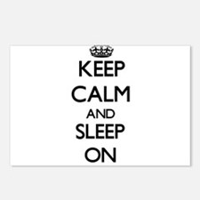 Keep Calm and Sleep ON Postcards (Package of 8)