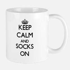 Keep Calm and Socks ON Mugs