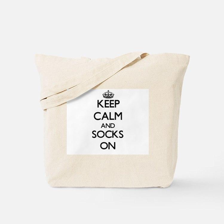 Keep Calm and Socks ON Tote Bag
