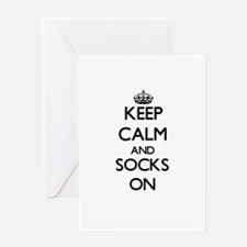 Keep Calm and Socks ON Greeting Cards