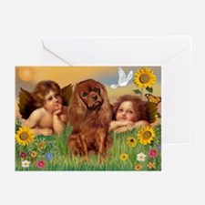 Angels & Ruby Cavalier Greeting Cards (Package of