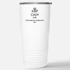 Keep Calm and Spontaneo Stainless Steel Travel Mug