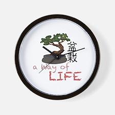 Bonsai A Way of Life Wall Clock